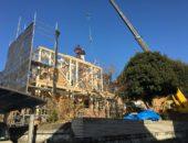 横浜栄区に新しくレンガの家が上棟しました。