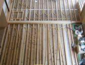 寒い冬にレンガの家のオリジナル床暖房