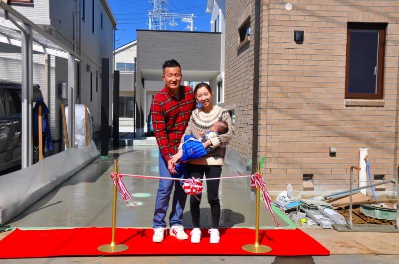注文住宅 レンガの家 横浜 お引き渡し式