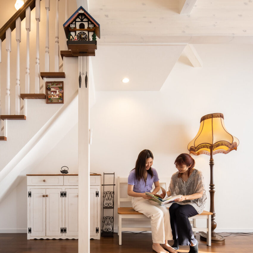 こだわりの家具で特別空間の広がるレンガ積みの家