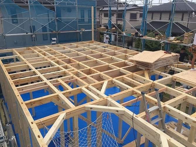 神奈川の工務店、木造軸組みの注文住宅。