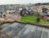 鎌倉市のS様邸、N様邸基礎工事開始