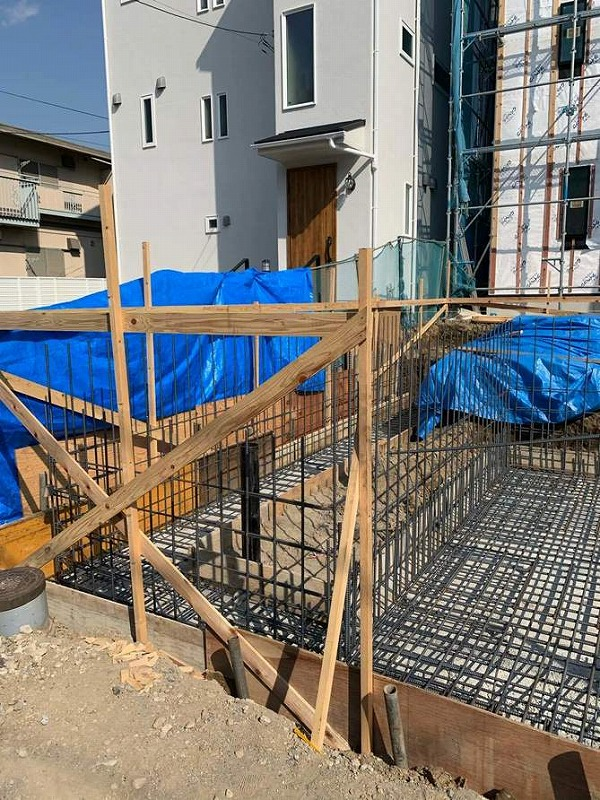 神奈川の工務店、基礎工事がスタートしました